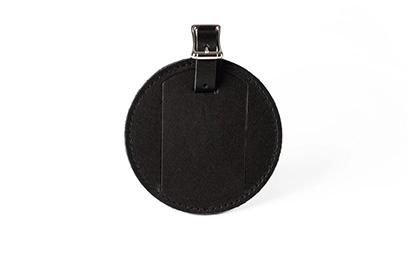 ETIKÉTA LUGGAGE TAG - BLACK LEATHER (2)
